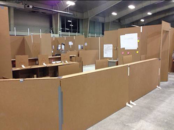 Detroit Medical Center Creates Cardboard City During Design
